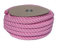 32mm Pink Polycotton Barrier Rope - 24m coil