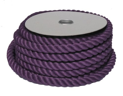 32mm Purple PolyCotton Barrier Rope - 24m coil