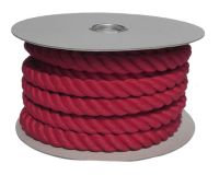 32mm Red PolyCotton Barrier Rope - 24m coil