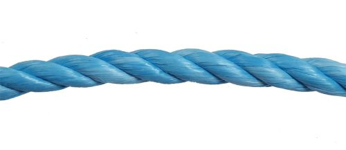 20mm Blue Polypropylene Rope sold by the metre