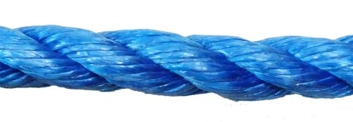 24mm Blue Polypropylene Rope sold by the metre