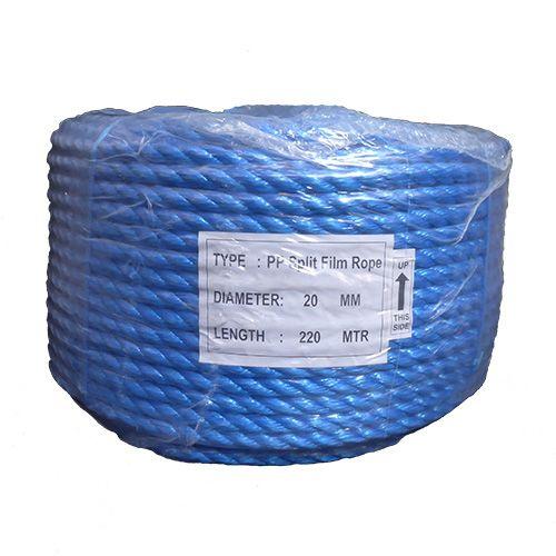 20mm Blue Polypropylene Rope - 220m coil