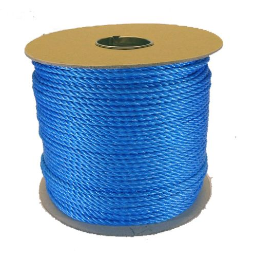 4mm Blue Polypropylene Rope - 220m reel