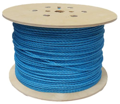 6mm Blue Polypropylene Rope on a 450m plywood reel