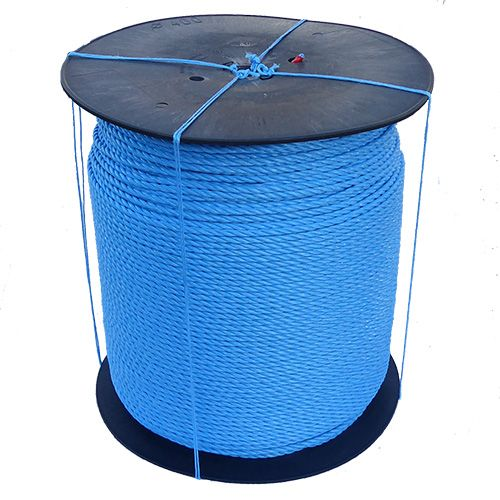 8mm Blue Polypropylene Rope on a 1000m plastic reel