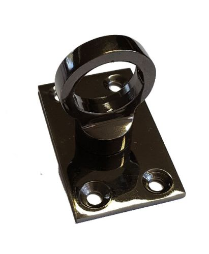 Black Nickel Eye Plate for Rope Hooks