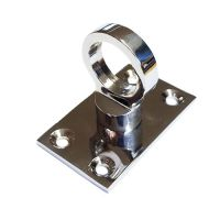 Glossy Chromed Brass Eye Plate for rope hooks