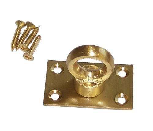 Solid Brass Eye Plate for rope hooks