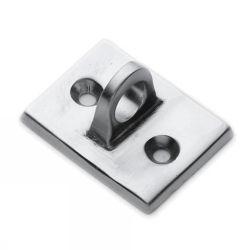 Brushed Chrome Eye Plate for Trigger Hooks