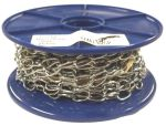 1.8mm Chromed Brass Oval Chain - 10m reel