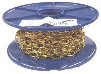 1.6mm Polished Brass Oval Chain - 10m reel
