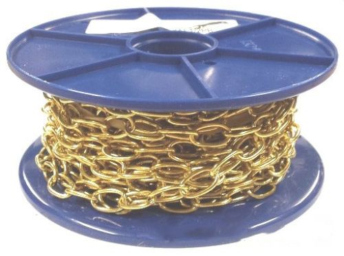 1.8mm Polished Brass Oval Chain - 10m reel