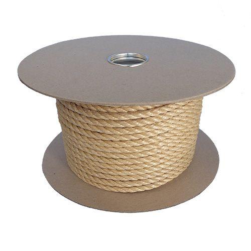 6mm Beige Polypropylene Rope sold on a 220m reel