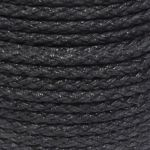 8mm Black Octoplait Polypropylene Rope sold by the metre