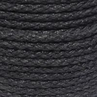 12mm Black Octoplait Polypropylene Rope sold by the metre