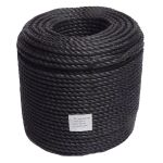 12mm Black Polypropylene Rope sold on a 220m coil