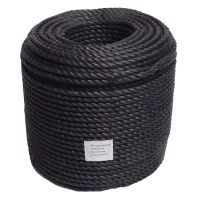 16mm Black Polypropylene Rope sold on a 220m coil