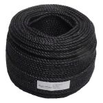 8mm Black Polypropylene Rope sold by the 220m coil