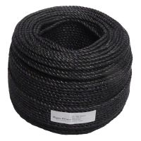6mm Black Polypropylene Rope sold by the 220m coil
