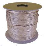 4mm Beige Polypropylene Rope sold on a 220m reel