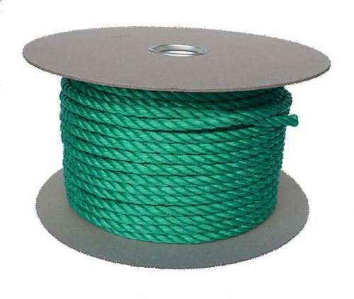 8mm Green Polypropylene Rope sold on a 100m reel