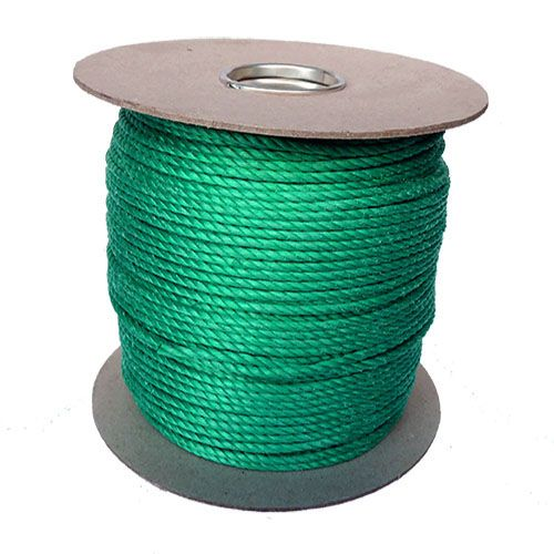 4mm Green Polypropylene Rope sold on a 220m reel