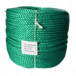 6mm Green Polypropylene Rope sold by the 220m coil