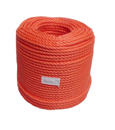 10mm Orange Polypropylene Rope - 220m coil
