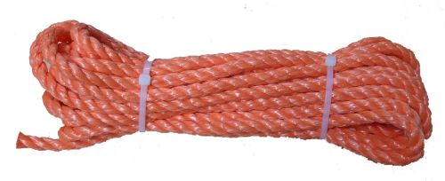 10mm Orange Polypropylene Rope - 10m hank