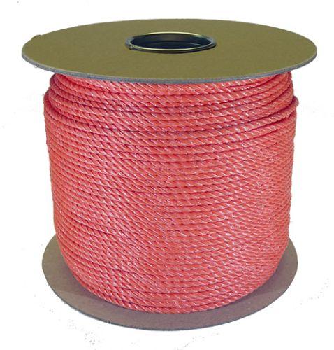 4mm Orange Polypropylene Rope - 220m reel