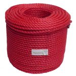 10mm Red Polypropylene Rope sold in a 220m coil