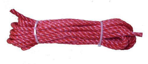 10mm Red Polypropylene Rope - 10m hank