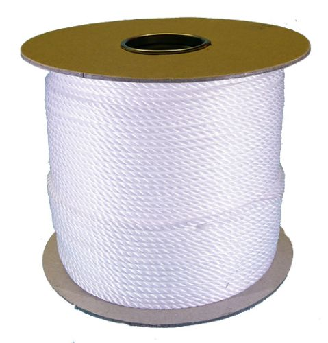 4mm White Polypropylene Rope sold on a 220m reel