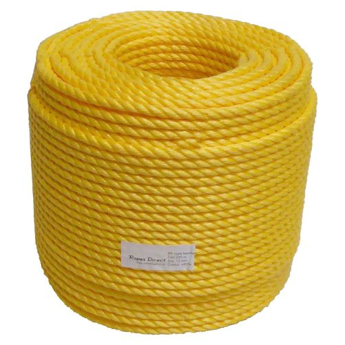 16mm Yellow Polypropylene Rope sold by the 220m coil