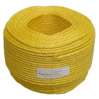 8mm Yellow Polypropylene Rope sold by the 220m coil