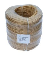 4mm Beige (Fawn) Polypropylene Rope sold in a 220m coil