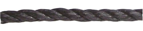 10mm Black Polypropylene Rope sold by the metre