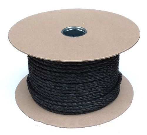 12mm Black Polypropylene Rope sold on a 50m reel