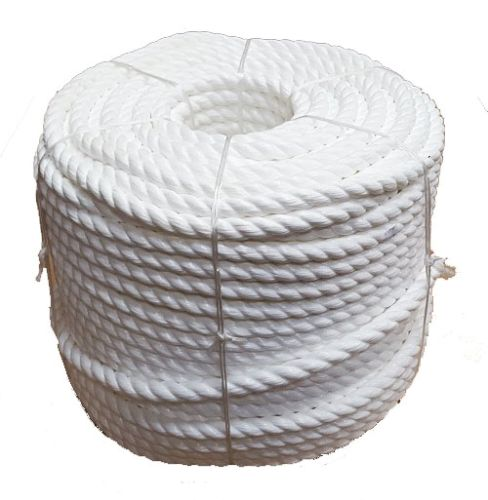 28mm 220m White Polypropylene Cricket Boundary Rope