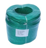 4mm Green Polypropylene Rope sold in a 220m coil