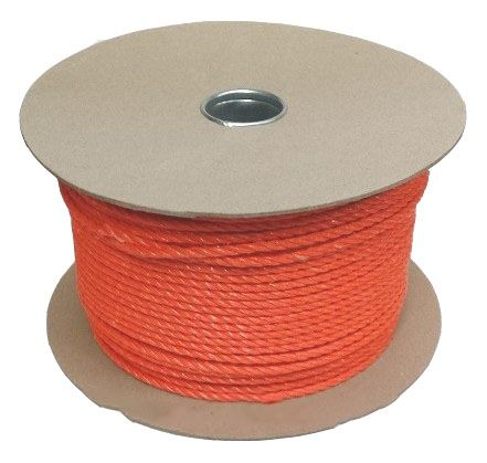 6mm Orange Polpropylene Rope - 220m reel
