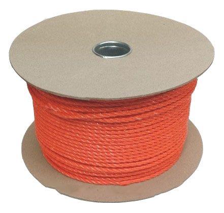 10mm Orange Polypropylene Rope sold on a 70m reel