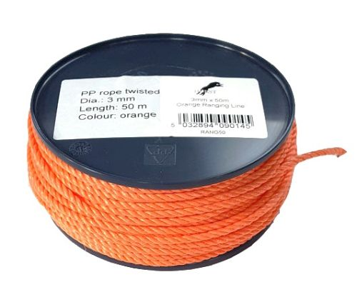 3mm Orange Polypropylene Ranging Line