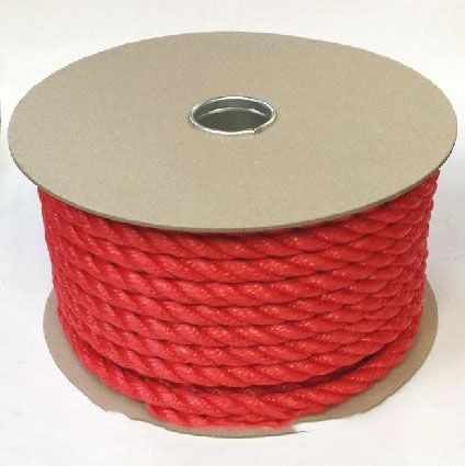 6mm Red Polypropylene Rope sold on a 220m reel