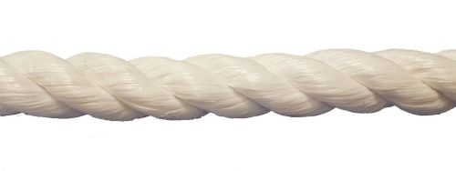 32mm White Polypropylene 3-strand Rope per metre