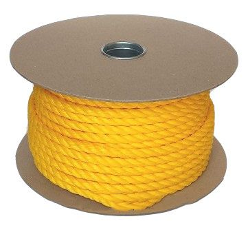 8mm Yellow Polypropylene Rope sold on a 100m reel
