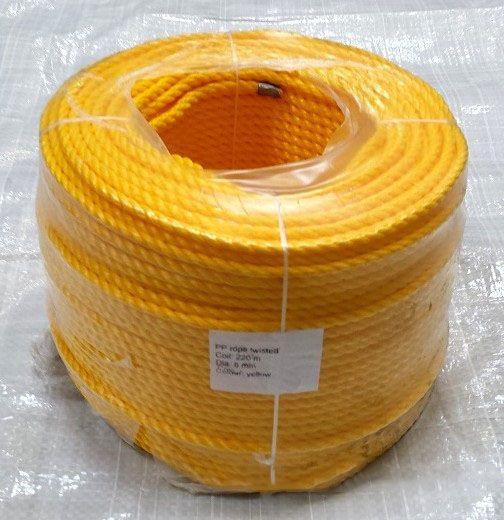 Yellow Polypropylene  Rope