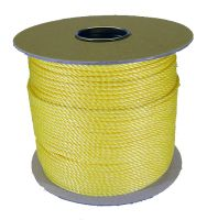 4mm Yellow Polypropylene Rope sold on a 220m reel