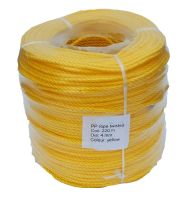 4mm Yellow Polypropylene Rope sold in a 220m coil
