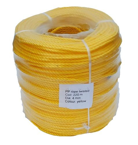 4mm Yellow Rope sold in a 220m coil